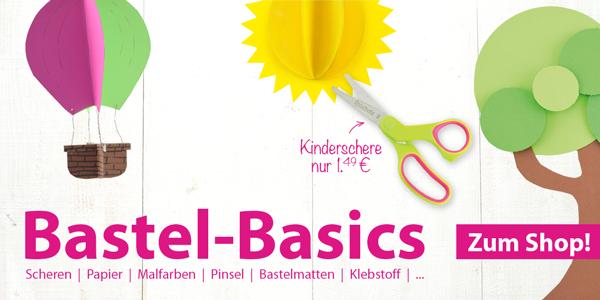 Bastel-Basics bei Spielheld: Scheren, Papier, Klebstoff uvm.