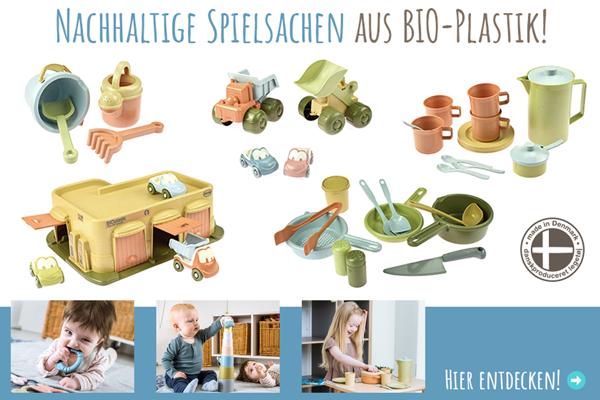 Nachhaltiger Kunststoff: BIOplastic von dantoy aus Dänemark