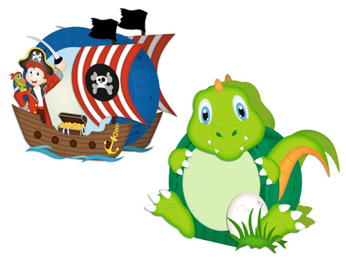 Easy Line Laternen: Dino, Pirat