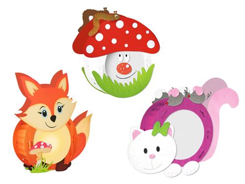 Motiv-Laternen: Fuchs, Kätzchen, Pilz