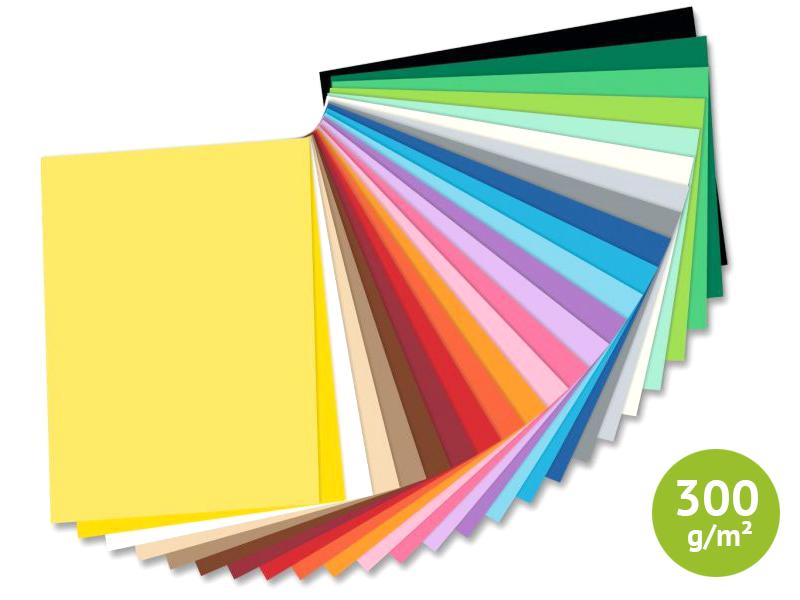 weiß 1 Stück DIN A4 Folia Zeichenkarton 250 g//m² 25 Blatt