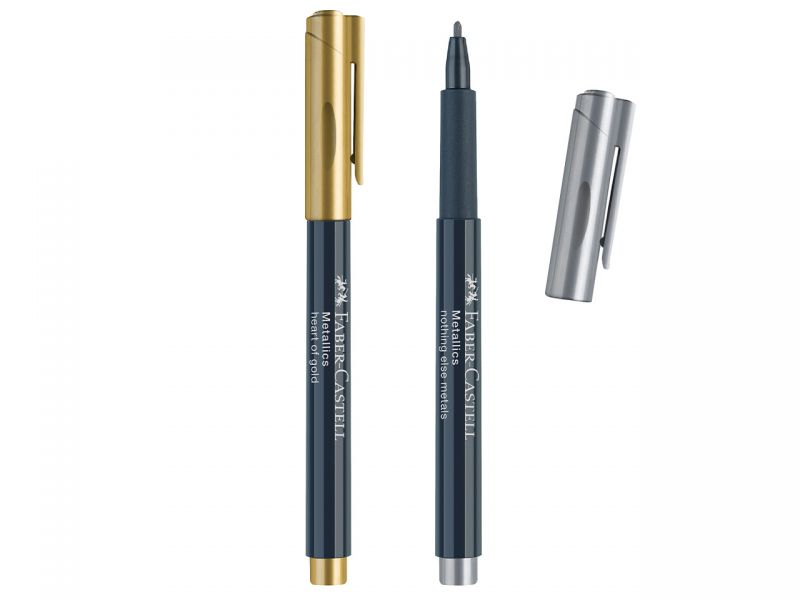 Faber-Castell Metallics Marker, Gold und Silber