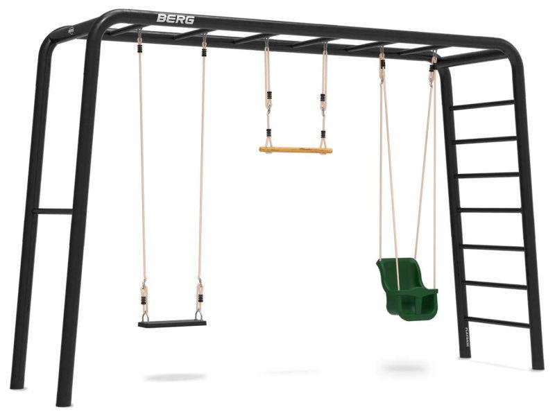 BERG PlayBase Large TL inkl. Babysitz, Schaukelsitz aus Gummi und Holztrapez