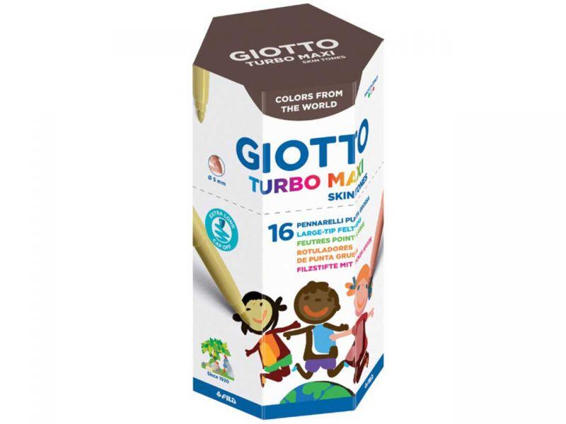 Giotto Turbo Color Skin Tones Filzstifte, 16 Stück