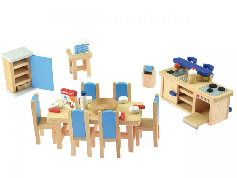 goki Puppenmöbel Küche mit Tresen