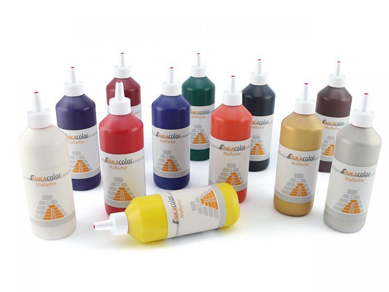 Universelle Kinder-Malfarbe im 12 Farben-Set • INKAcolor | Spielheld
