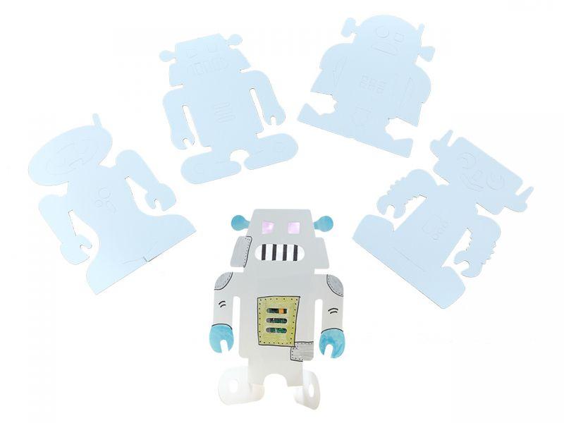Malvorlagen Roboter 24 Tlg