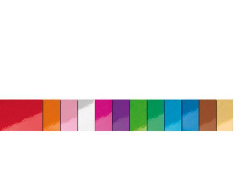 Spiegelkarton, 23 x 33 cm, 12 Farben sortiert