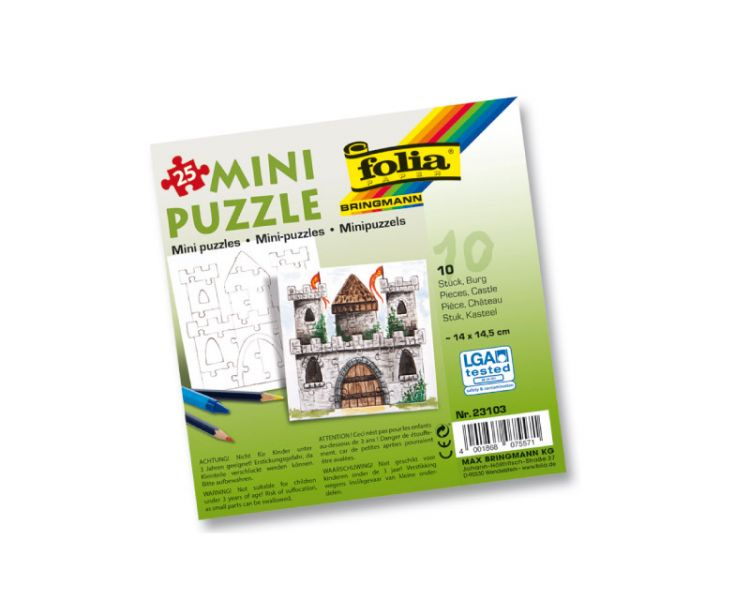 Mini-Puzzle »Burg«, 10 Stück