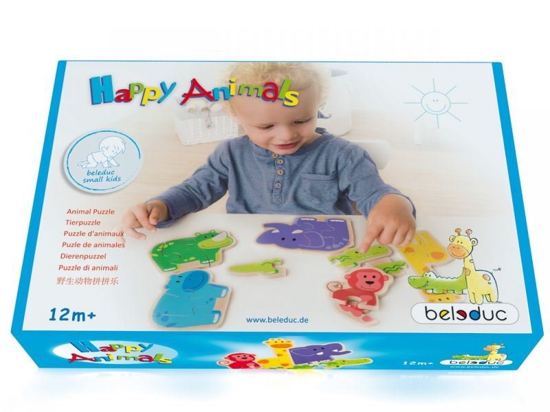 beleduc Happy Animals Puzzle, 18-tlg.