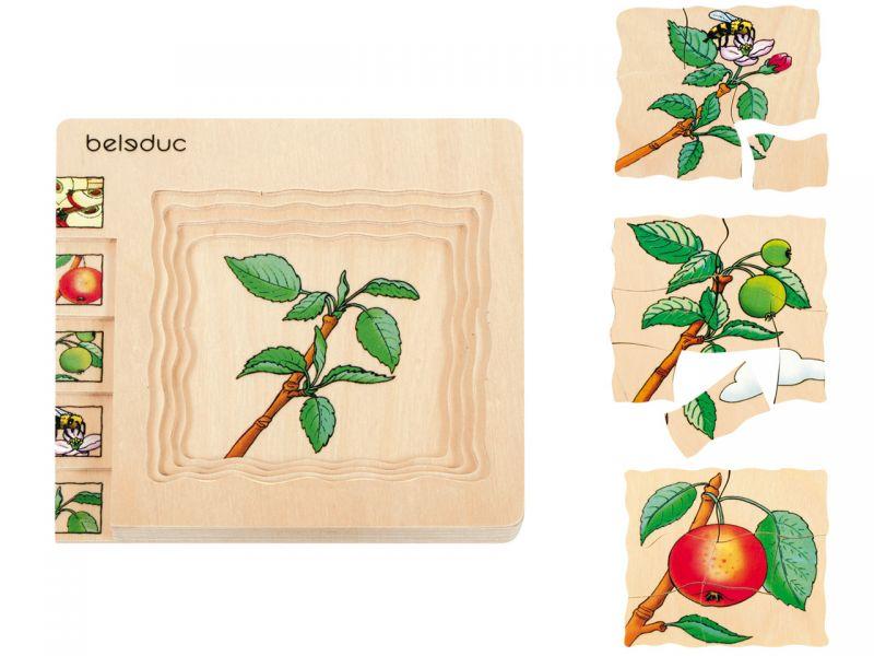 beleduc Lagenpuzzle »Apfel«