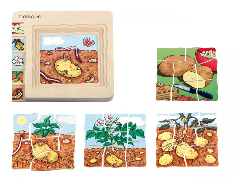 beleduc Lagenpuzzle »Kartoffel«