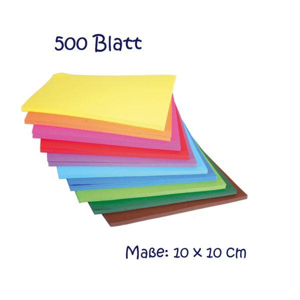 Faltblätter quadratisch (10 cm), 500 Blatt