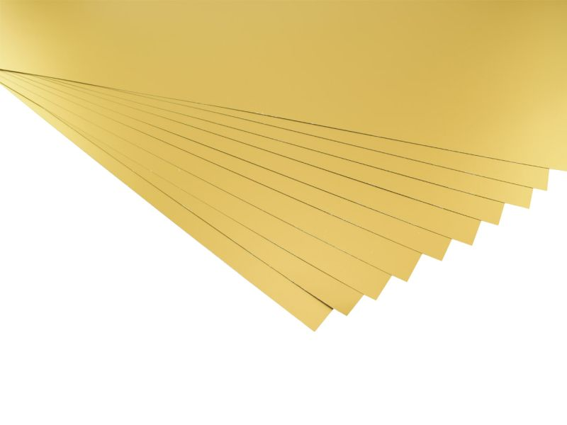 Fotokarton, 50 x 70 cm, 10 Bogen, gold