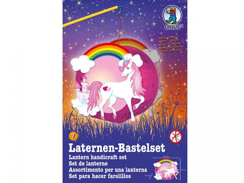 URSUS Laternen-Bastelset Easy Line »Einhorn & Schloss«