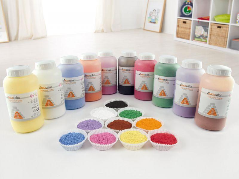 INKAcolor Pulverfarbe aus Farbpigmenten, 500g, Farbe wählbar