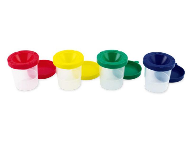 Pinselbecher, 300 ml, 1 Stück, Farben sortiert