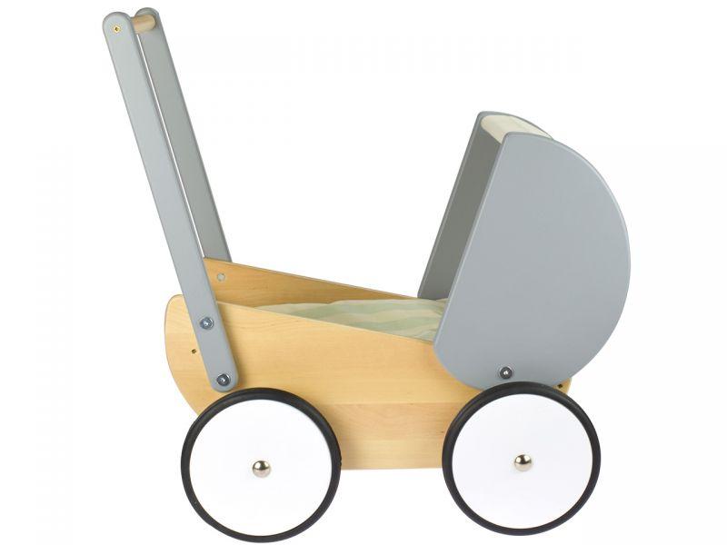 BAJO Puppenwagen, grau