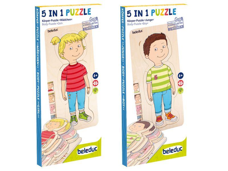 beleduc Körper-Puzzle Junge und Mädchen