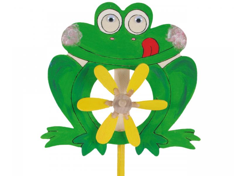 Holz-Windrad »Frosch«