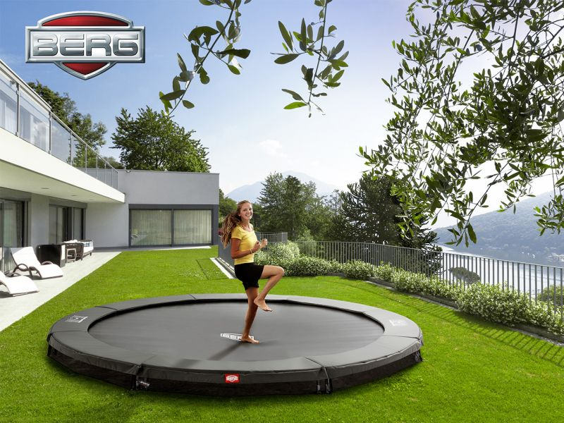 BERG Trampolin Champion InGround 430 Grey