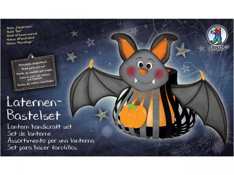 Laternen-Bastelset 3D-Streifen »Fledermaus Freddy«