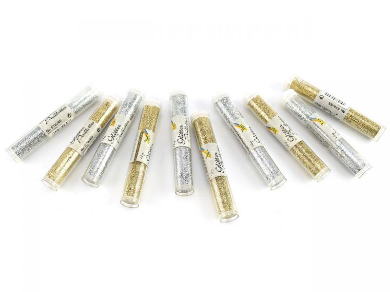 Glitter-Set »Silber & Gold«, 10 Tuben