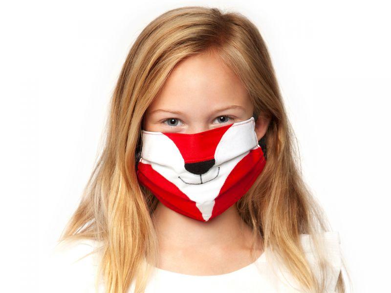 Leschi Gesichtsmaske »Der Fuchs Elias«, Feuer/Mitternacht