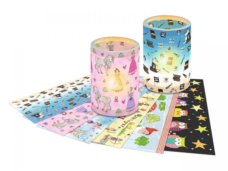 Laternen-Transparentpapier, 6 Kinder-Motive, 25 Blatt