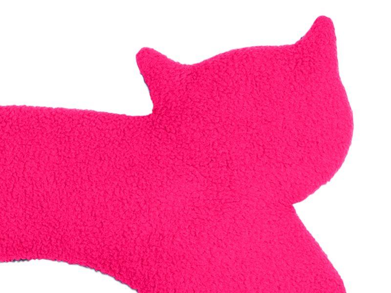 Leschi Wärmekissen »Die Katze Minina« stehend groß, Flamingo/Mitternacht