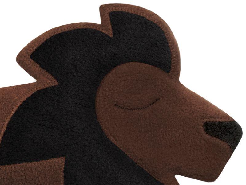 Leschi Wärmekissen »Der Löwe Juri«, Schokolade