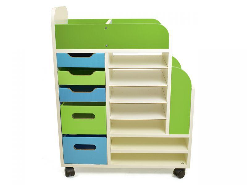 Materialwagen, für Farben & Co., weiß