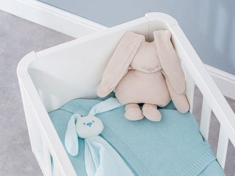 Nattou Lapidou Strickkuscheltier Hase, beige