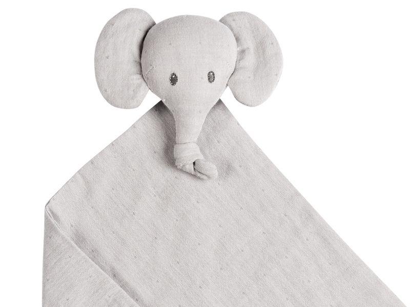 Nattou Tembo Elefant Kuscheltuch Swaddle, grau