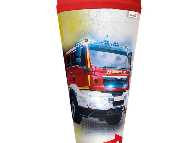 Schultüte »Feuerwehr« mit Licht, 70 cm