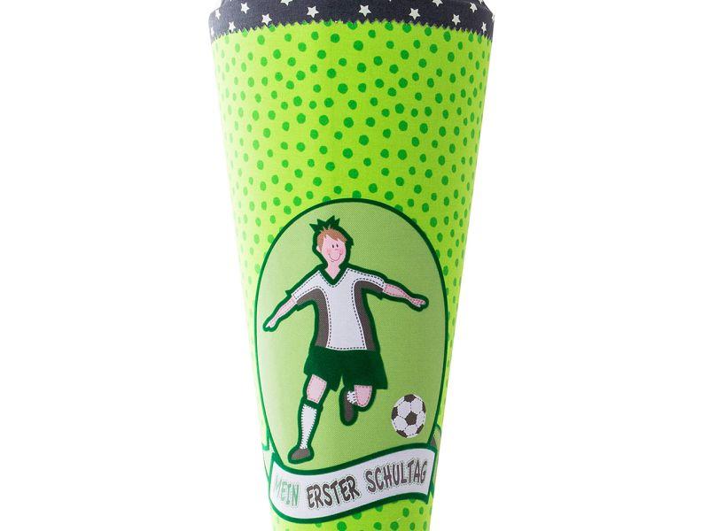 Stoff-Schultüte mit Applikation »Fußball«, 70 cm