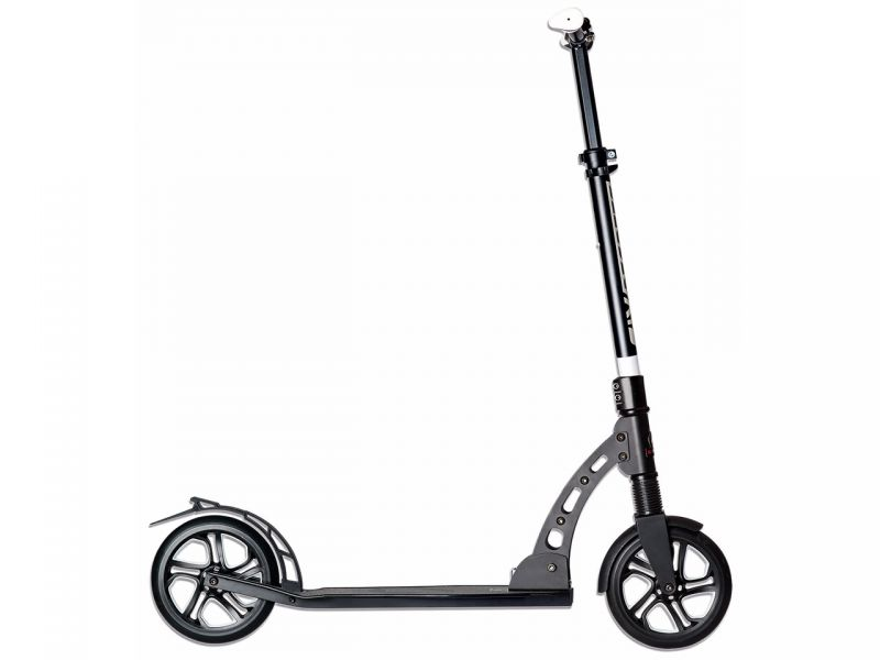Aluminium Scooter Six Degrees 205 mm mit Federung, schwarz