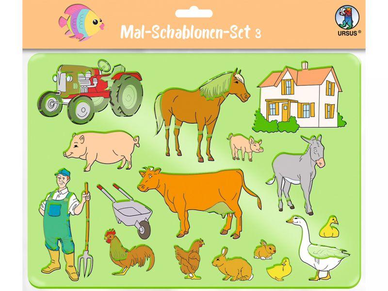 URSUS Mal-Schablonen-Set 3, 6-tlg.
