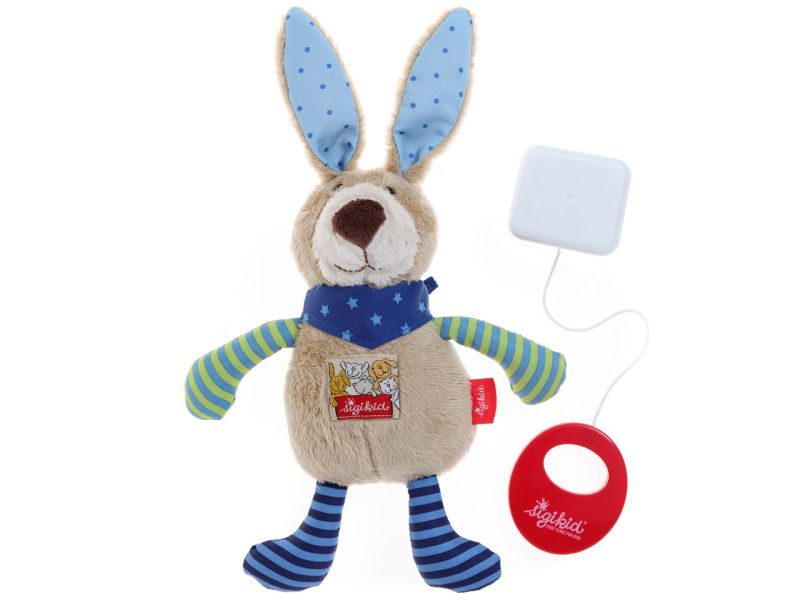 sigikid Spieluhr Hase blau Red Star Collection