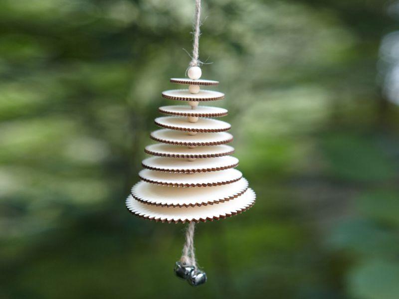 Baum-Windspiel »Holzscheiben«