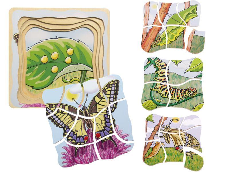 beleduc Lagenpuzzle »Schmetterling«