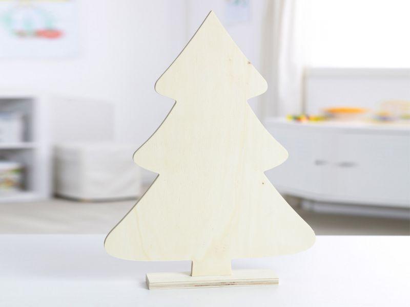 XL Holzdeko »Tannenbaum«, Holz natur