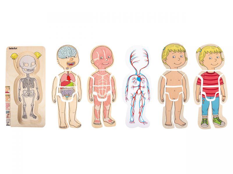 beleduc Körper-Puzzle Mädchen