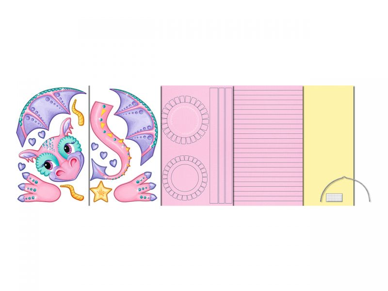 Laternen-Bastelset 3D-Streifen »Drachenlady«