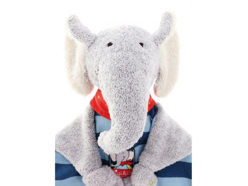 sigikid Lolo Lombardo Schmusetuch Elefant, 27 cm