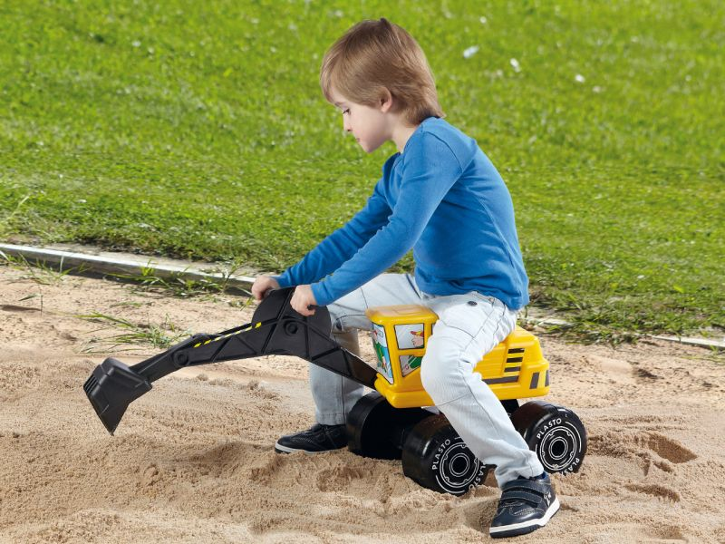 Sandkasten-Sitzbagger
