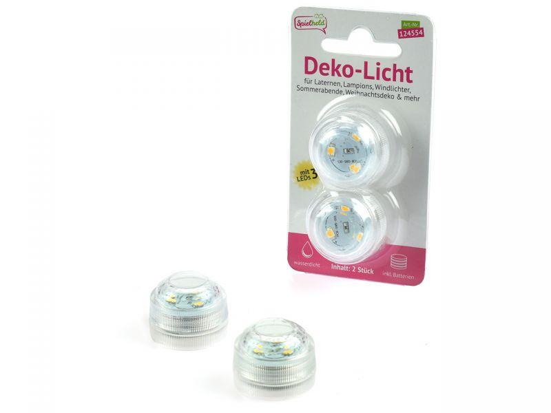 Deko-Licht (3 LEDs), 2 Stück, inkl. Batterien