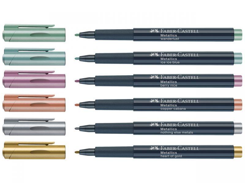 Faber-Castell Metallics Marker, 6 Farben