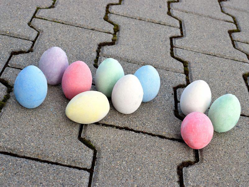 Straßenmalkreiden in Eierform, 10 Stück