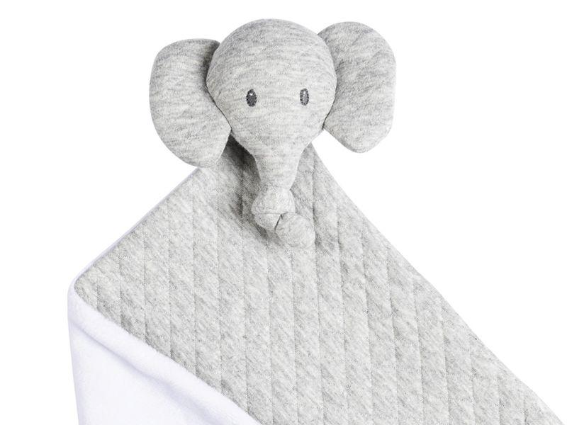 Nattou Tembo Elefant Kuscheltuch Jaquard, grau